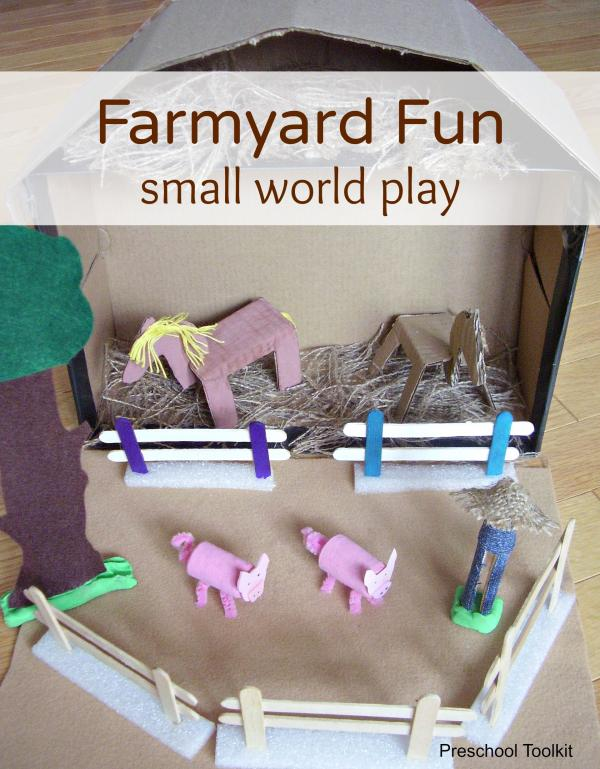 Farmyard small world play for kids