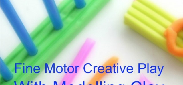 Fine motor modeling clay activity for preschoolers