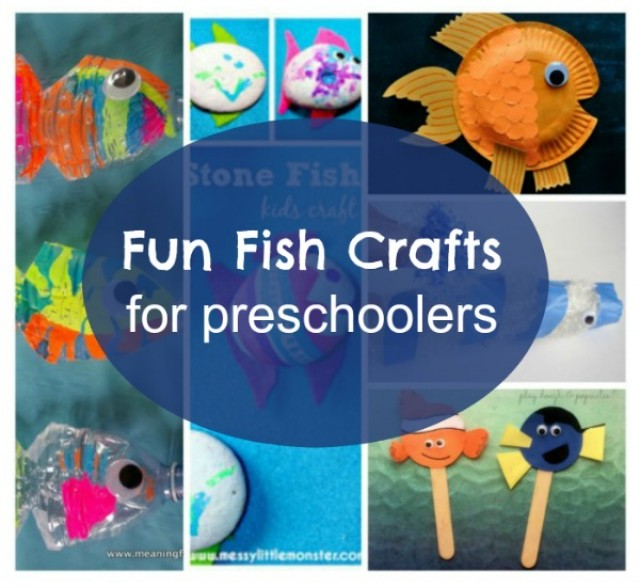 Roundup of fish crafts for preschoolers from kid bloggers.