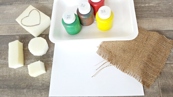 Foam shapes for painting bird nest preschool craft