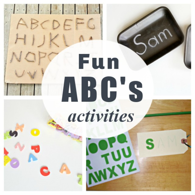 Fun preschool activities to learn letters of the alphabet