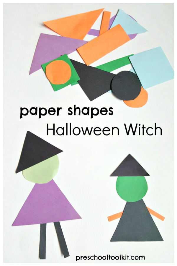 Halloween Paper Shapes Witch » Preschool Toolkit