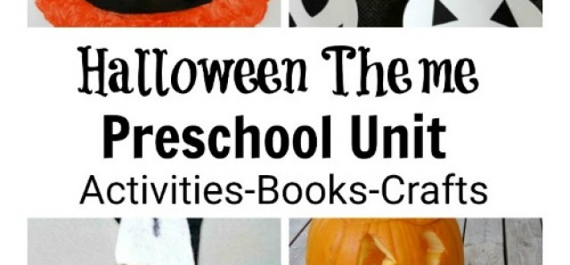 Halloween preschool unit with activities books crafts