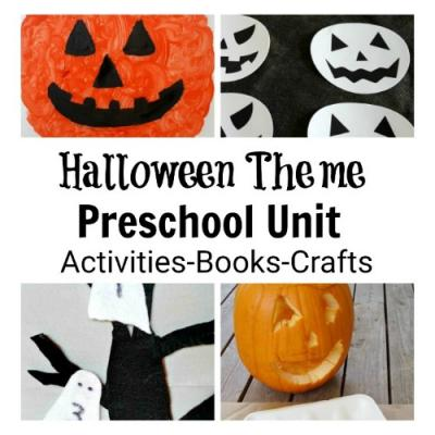 Halloween thematic unit with kids crafts and activities