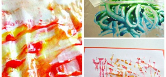 Ice cube painting preschool activity