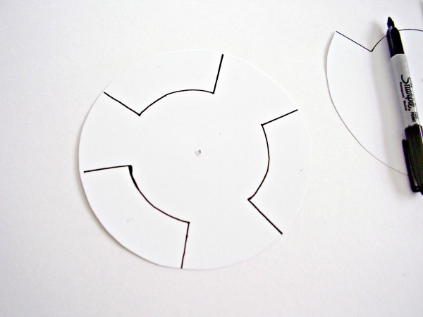 Jack o lantern craft paper dial sections