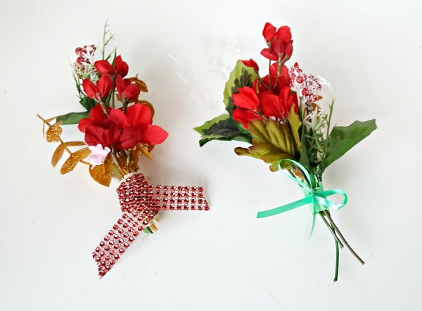 Christmas bouquet kids craft