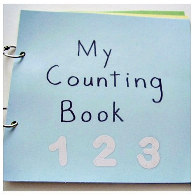Kids can make a picture book to support early counting skills