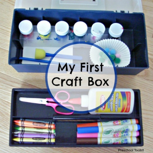 Kids can create a craft box for storing art supplies