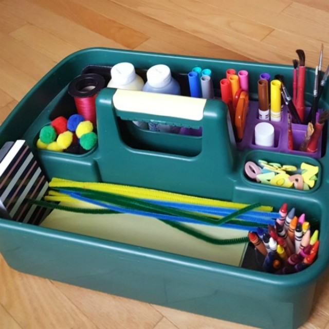 Make a go to craft box for crafting with toddlers and preschoolers