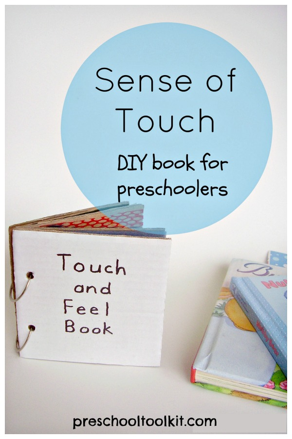 Make a sensory play touch and feel book with cardboard and textured paper and fabric