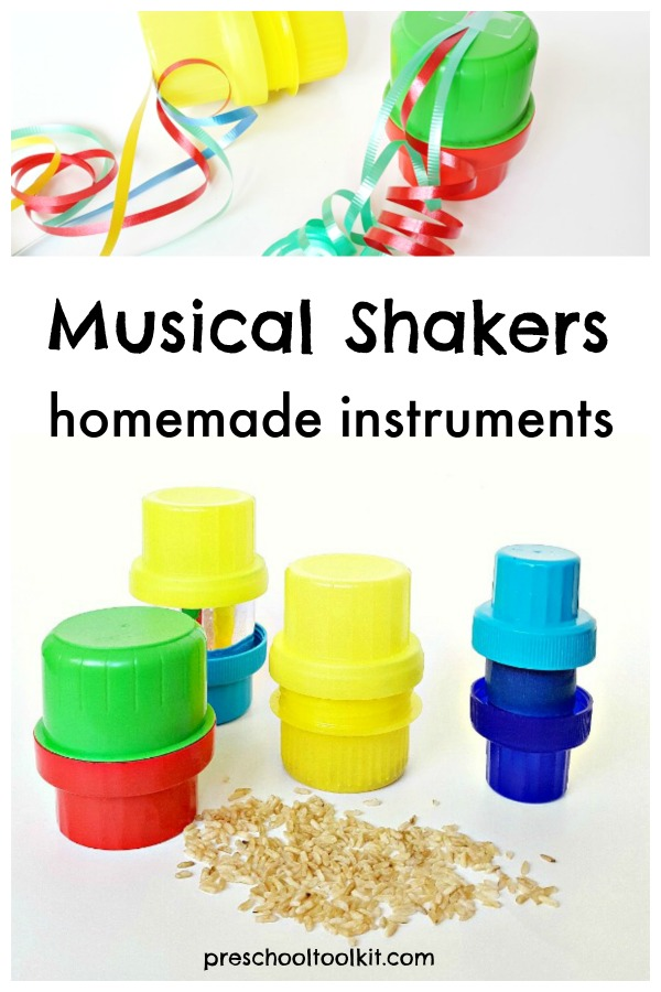 Music shakers homemade instruments for kids