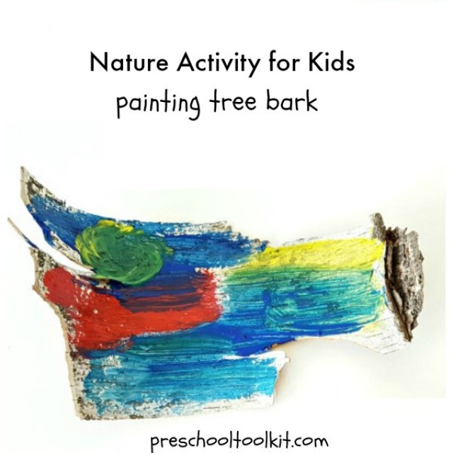 Nature unit and craft exploring trees with preschoolers