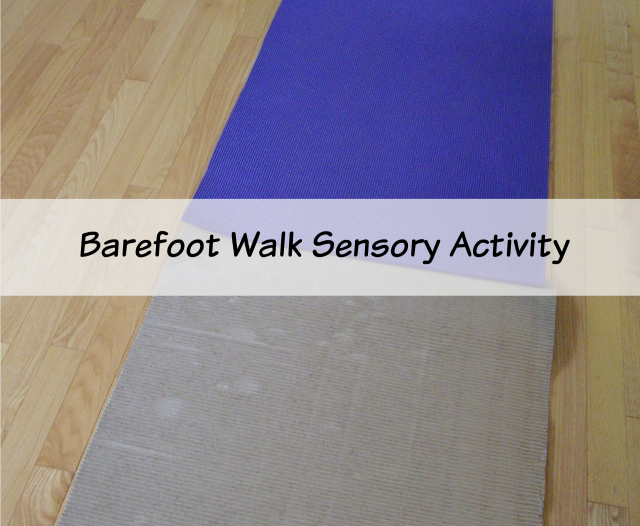 Barefoot sensory walk - Preschool Toolkit