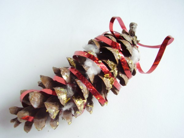 Create a pine cone ornament for Christmas