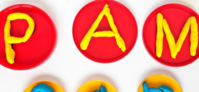 Play dough letters of the alphabet fine motor play