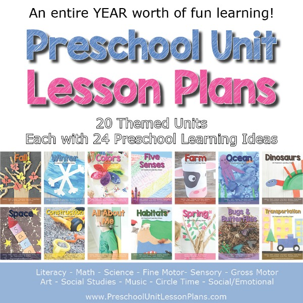 Preschool Lesson Plans With Themed Units For A Full Year