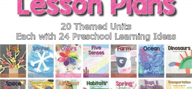 Preschool Unit Lesson Plans early learning product (affiliate)