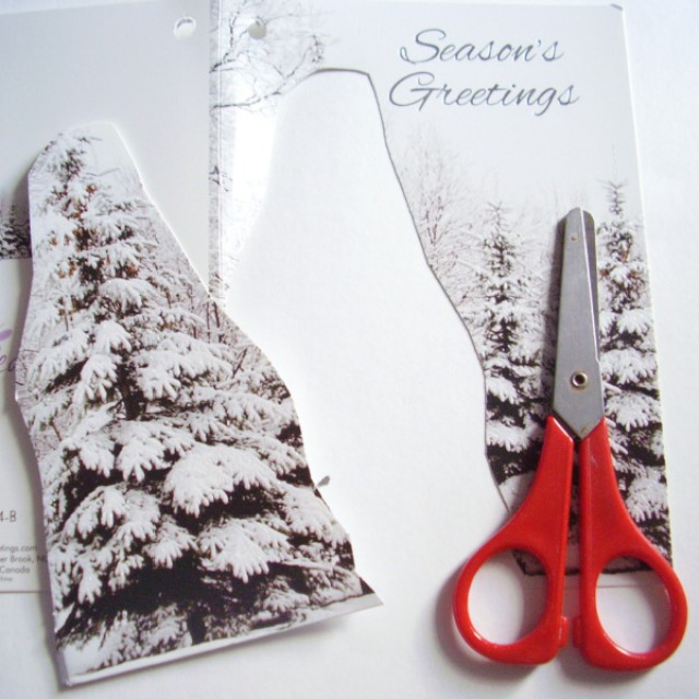 Recycled greeting cards paper craft