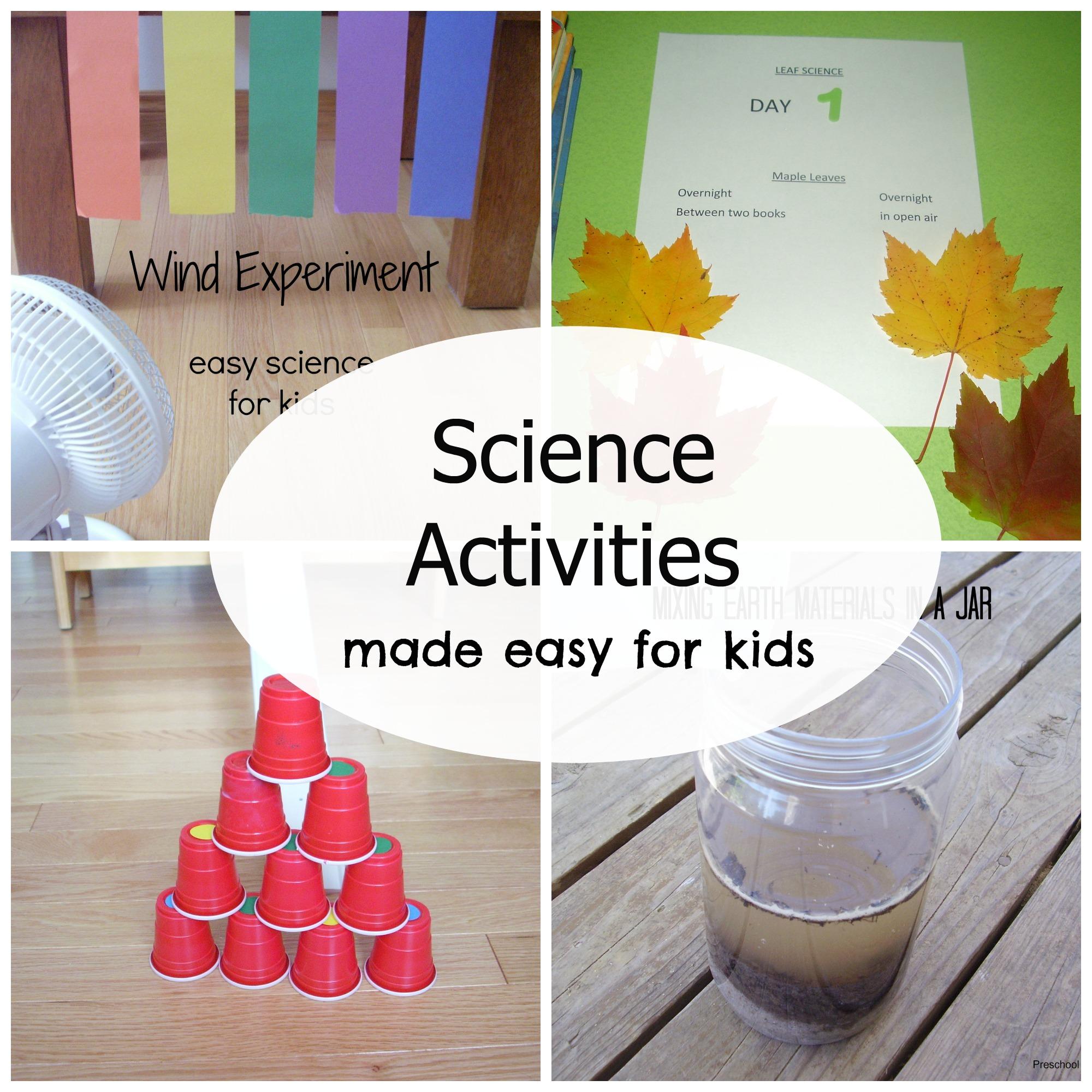 Simple Science Activities For Preschoolers 187 Preschool Toolkit