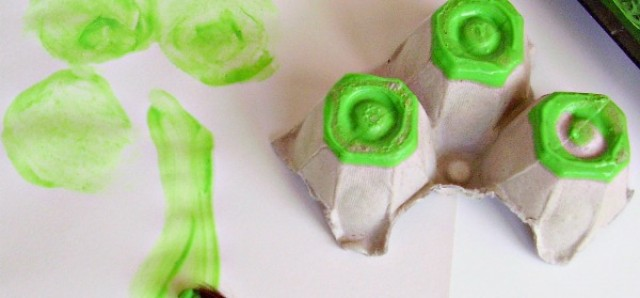 Shamrock art activity for kids