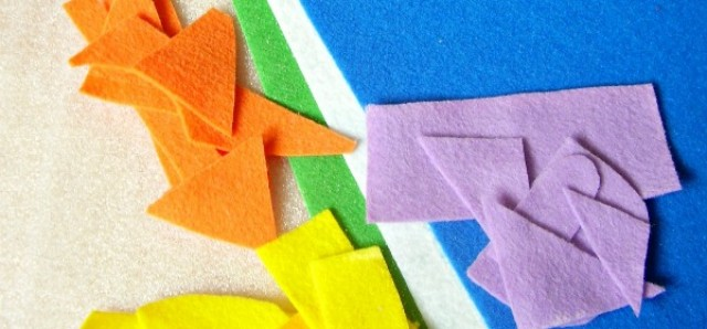 Simple tips for sorting and storing scraps of felt for kids crafts