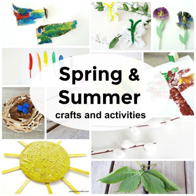 Spring and summer activities for preschoolers