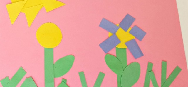 Spring flowers fine motor and math preschool activity