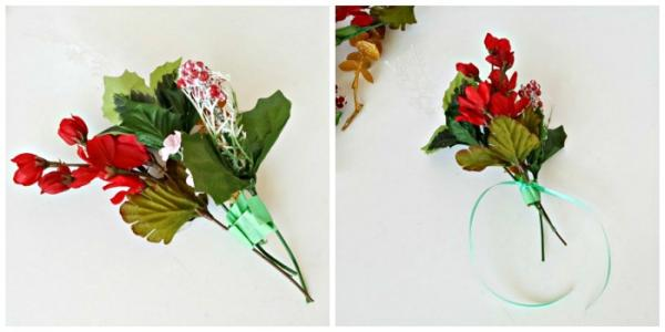 Corsage craft with ribbon trim kid-made gift