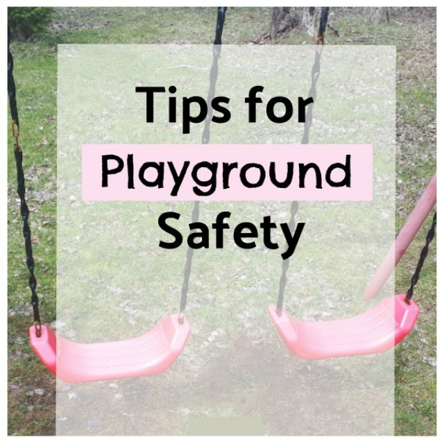 Tips for safety on the playground