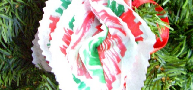 Tissue paper ornament preschool craft