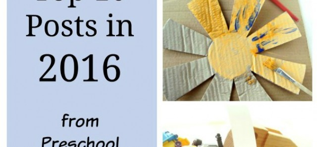 Top 10 posts in 2016 from Preschool Toolkit