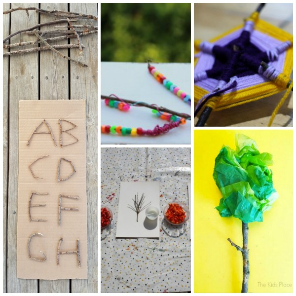 Roundup of preschool activities using twigs