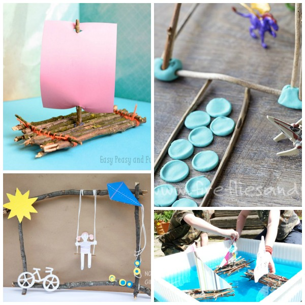 Nature themed crafts using twigs