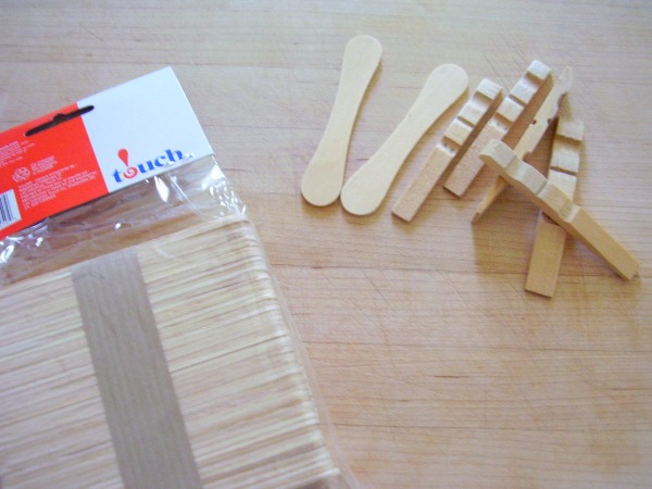 Use broken clothespins in kids crafts