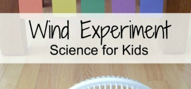 Wind experiment kids science