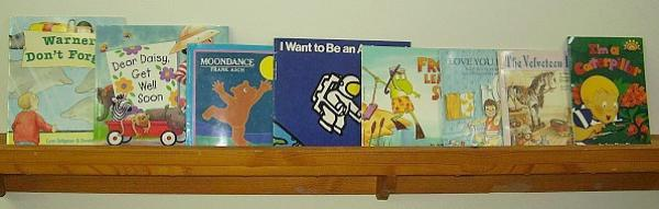 Book shelf for easy access of kids books