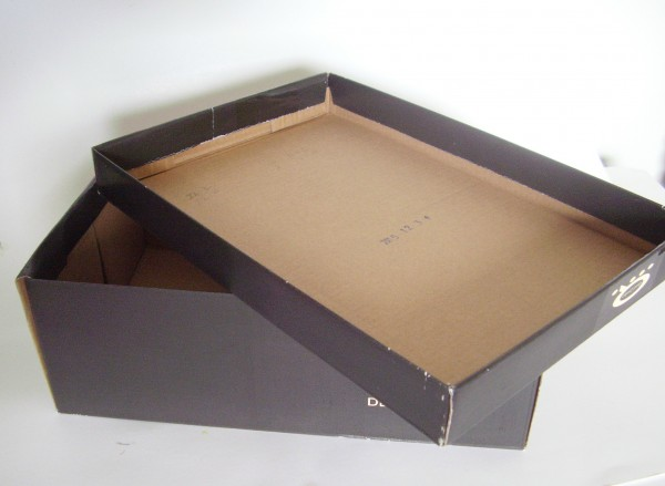 Shoe box lid tray
