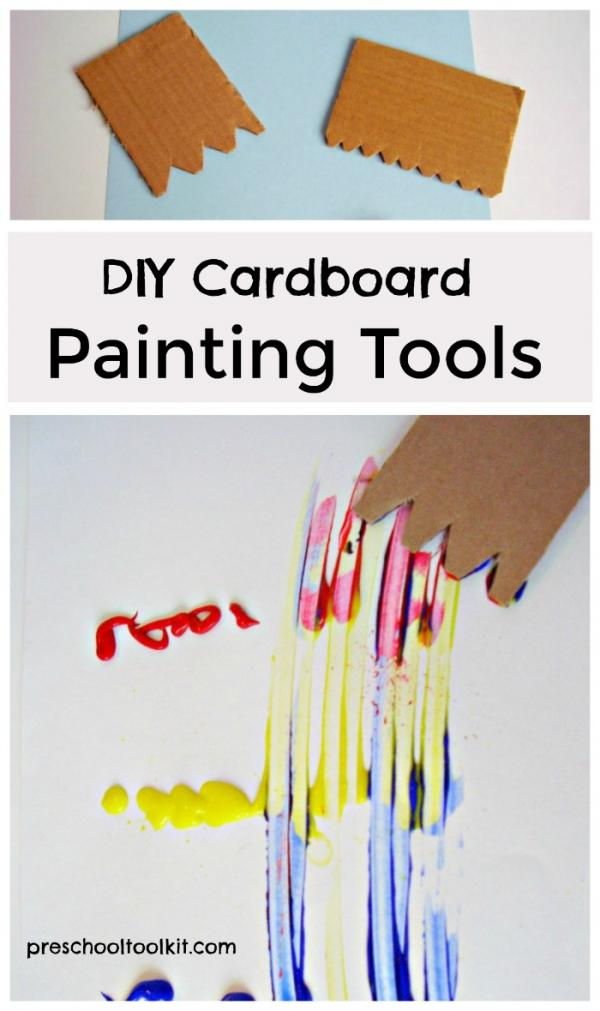 cardboard spreader painting tool for kids painting activities