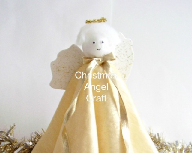 Christmas angel decoration family craft