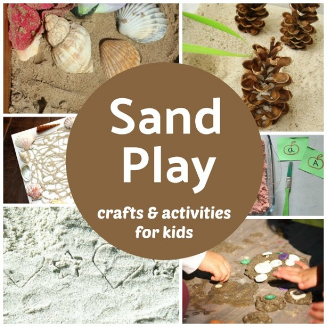 Sand play with crafts and activities for kids