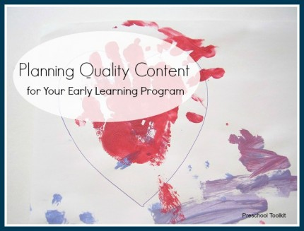 Planning quality content for your early learning program