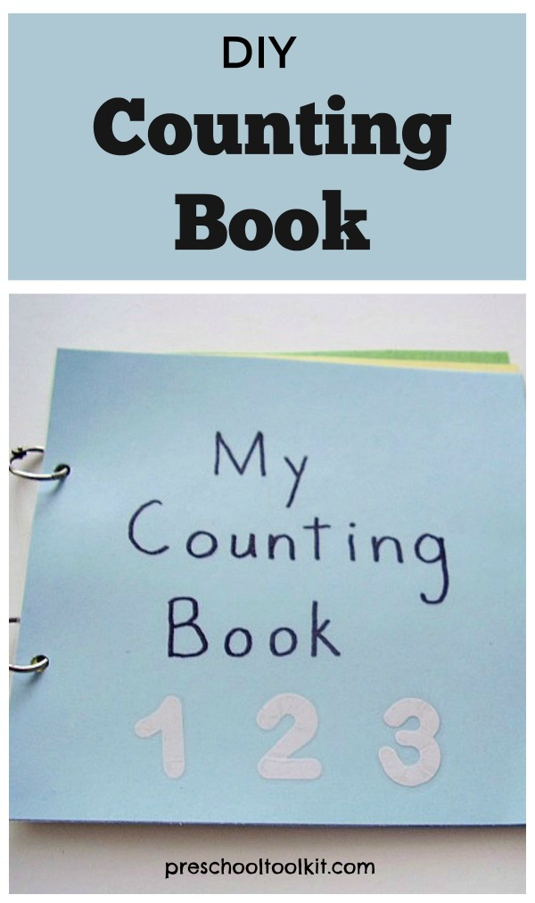 Counting book preschool math activity