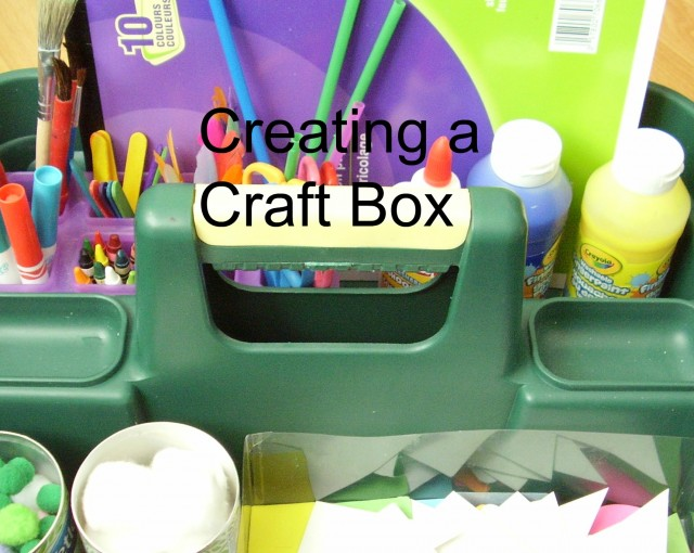 craft box for providing art activities for kids