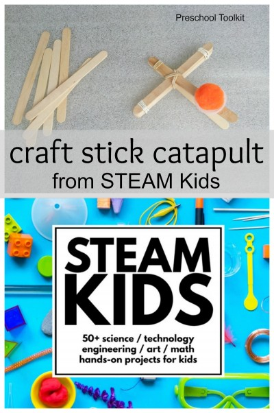 Craft stick catapult craft for kids