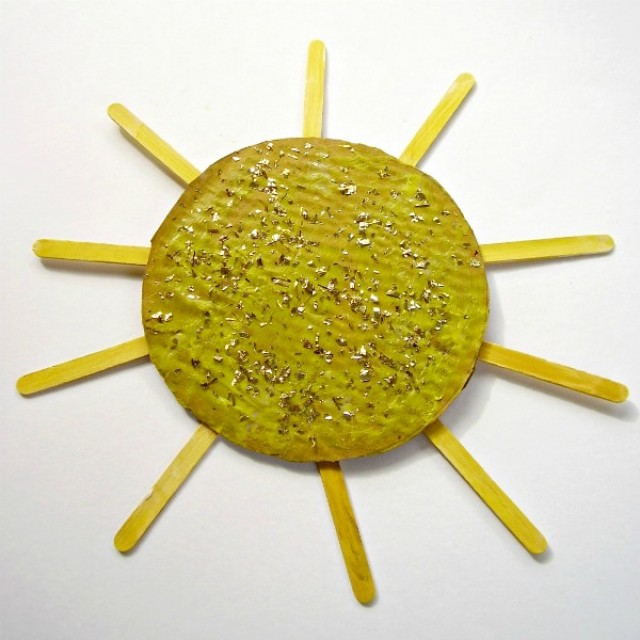 craft stick sun craft for kids