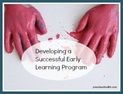 How to develop an early learning program that's right for you