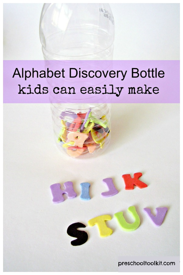 discovery bottle early learning literacy activity
