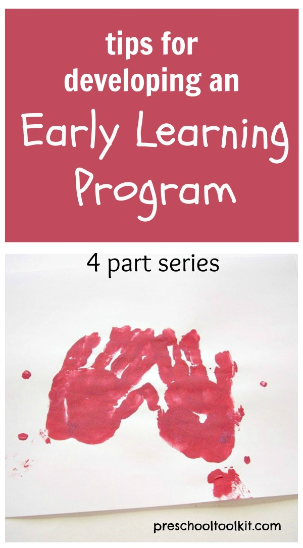 Tips for developing an early learning program