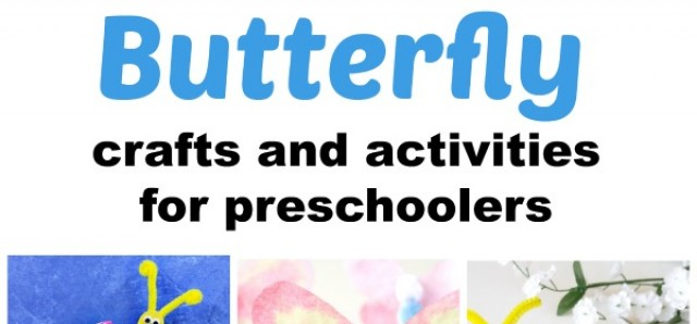 17 Butterfly crafts and activities for preschoolers from preschooltoolkit.com
